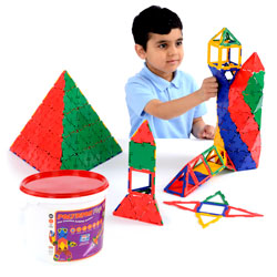 Polydron Mega Tub - Set of 126 Pieces