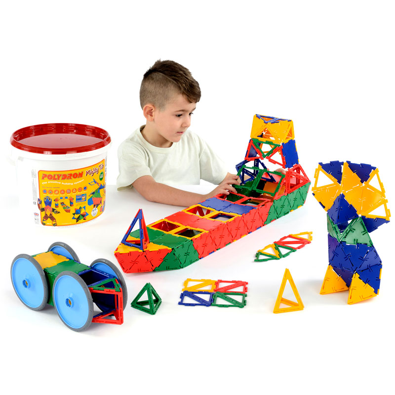 Polydron Mighty Tub - Set of 223 Pieces - 20-5005R
