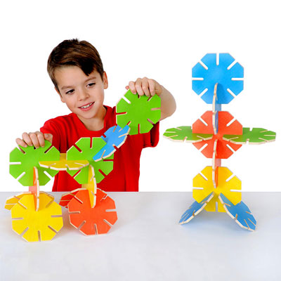 Wooden Octoplay Bright Colours Set - Set of 20 Pieces - 30-2100