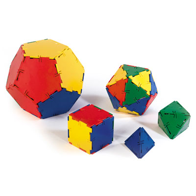 Polydron Platonic Solids Set - Set of 50 Pieces - 10-3000
