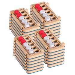 Rekenrod Foam Ten-Frames Class Set - Set of 24
