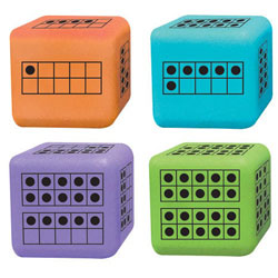 Ten-Frame Dice - Set of 12