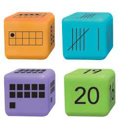 Multiple Representation Number Dice - Set of 16