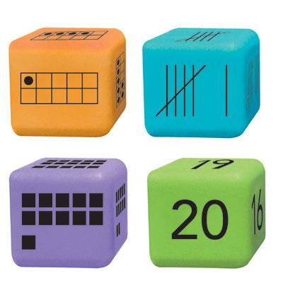 Multiple Representation Number Dice - Set of 16 - H2M86889