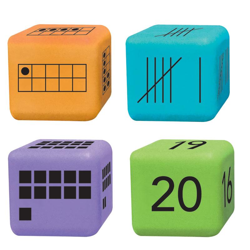 Multiple Representation Number Dice - Set of 16 - ETA86889