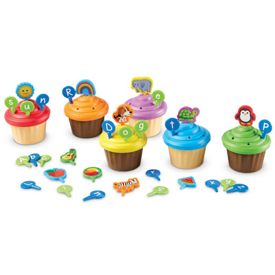 ABC Party Cupcake Toppers - LER6804