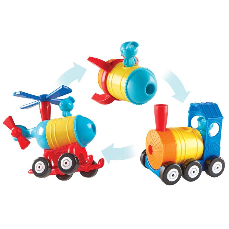 1-2-3 Build It! Rocket-Train-Helicopter - LER2859
