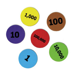 Giant Magnetic Place Value Demonstration Disks - Set of 80 - by Learning Resources