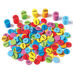 Place Value Disks - Set of 280