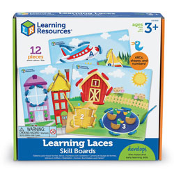 Learning Laces Skill Boards - Set of 12 Pieces - by Learning Resources