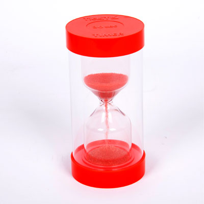 ColourBright Large Sand Timer - 30 Second - Red - CD92109