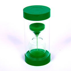 ColourBright Large Sand Timer - 1 Minute - Green