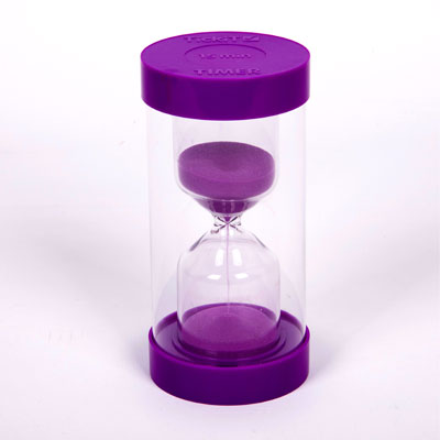 ColourBright Large Sand Timer - 15 Minute - Purple - CD92121