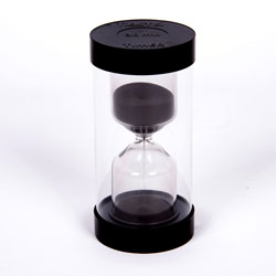 ColourBright Large Sand Timer - 30 Minute - Black