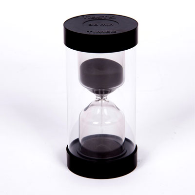 ColourBright Large Sand Timer - 30 Minute - Black - CD92123
