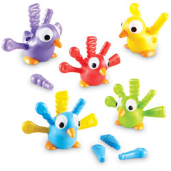 Fine Motor Peacock Pals (Set of 5) - by Learning Resources
