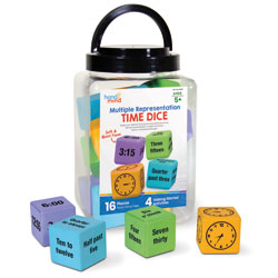 Multiple Representation Time Dice - Set of 16
