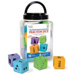 Multiple Representation Fractions Dice - Set of 16