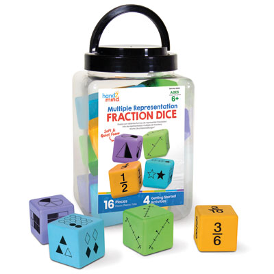 Multiple Representation Fractions Dice - Set of 16 - H2M91268