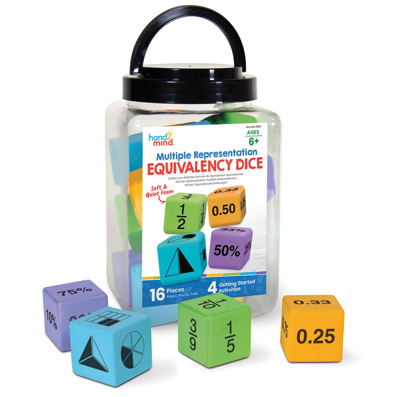 Multiple Representation Equivalency Dice - Set of 16 - H2M91269