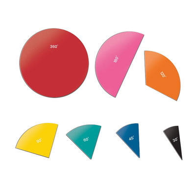 Magnetic Rainbow Angle Circles - Teacher Demonstration Set - H2M91052