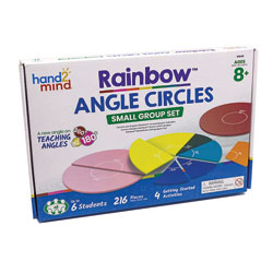 Rainbow Angle Circles - Set of 6 - Class Set