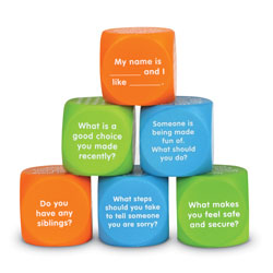 Let's Talk Cubes - Set of 6 - by Learning Resources