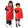 Children's PVC Tabard  - Red - 66cm Length x 71cm Chest (Approx Ages 5-6) - MB1054