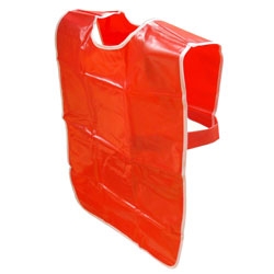 Children's PVC Tabard  - Red - 69cm Length x 76cm Chest (Approx Ages 7-8)
