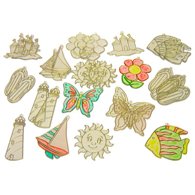 Glass Painting Window Decorations - Set of 24 - MB796WIN-24