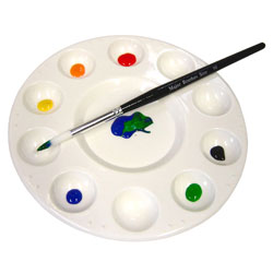10-Well Circular Mixing Palette - Single