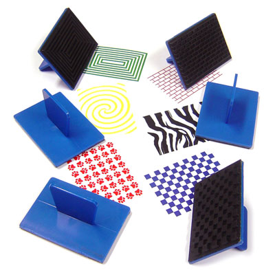 Pattern Rubbers Stamps - Set of 6 (ink pad not included) - MB710PAT-6