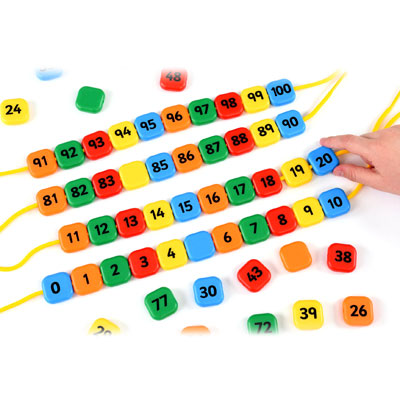 0-100 Lacing Number Beads - Set of 111 Pieces - EA-44