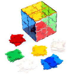 Crystal Polydron Squares - Set of 40