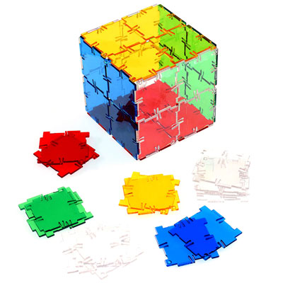 Crystal Polydron Squares - Set of 40 - 10-0400CRYSTAL