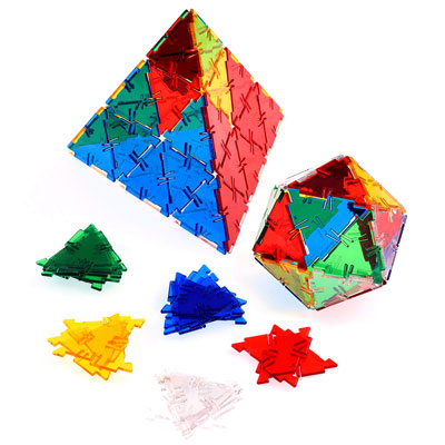 Crystal Polydron Equilateral Triangles - Set of 100 - 10-0300CRYSTAL