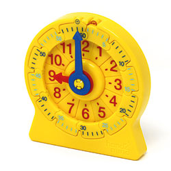 24-Hour Student Number Line Clock - Approx 11cm