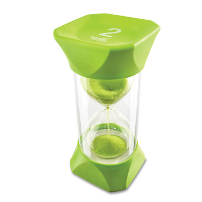 Jumbo Sand Timer - 2-Minute (Green) - by Hand2Mind - H2M93067