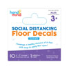 Social Distancing Floor Decals - Dashes - Set of 10 - H2M93732