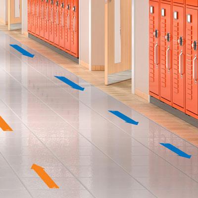 Social Distancing Floor Decals - Arrows - Set of 10 - H2M93733