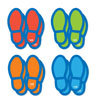 Social Distancing Floor Decals - Footprints - Set of 8 - H2M93735