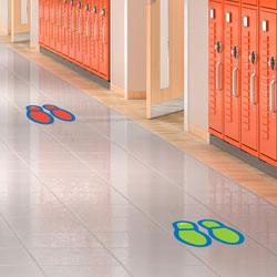 Social Distancing Floor Decals - Footprints - Set of 8