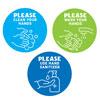 Handwashing Reminder Decals - Set of 60