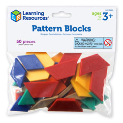Pattern Blocks Smart Pack - Set of 50 - by Learning Resources