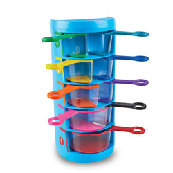 Rainbow Fraction Measuring Cups - Set of 9