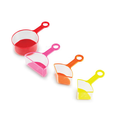 Rainbow Fraction Measuring Cups - Set of 4 - H2M93439-UK