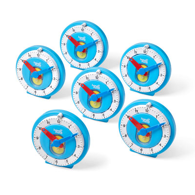Advanced NumberLine Clock - Approx 11cm - Set of 6 - H2M93410