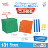 Differentiated Base Ten Blocks Demonstration Clings - by Hand2Mind - H2M92855