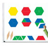 Pattern Blocks Demonstration Clings - by Hand2Mind - H2M92857