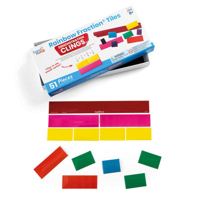 Rainbow Fraction Tiles Demonstration Clings - by Hand2Mind - H2M92861